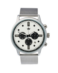 Men's Silver Watch with White Dial