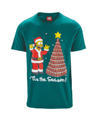 Licensed Mens Simpson Xmas T-Shirt