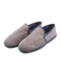 Avenue Men's Slippers - Grey