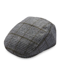 Avenue Men's Smart Check Flat Cap