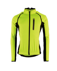 Men's Softshell Cycling Jacket - Yellow