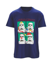 Mens' Blue Star Wars Christmas Top
