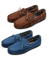 Avenue Men's Suede Moccasin Slipper