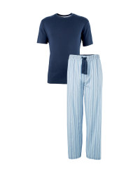 Men's Navy T-Shirt and Lounge Set