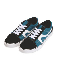 Men's Teal/Black Canvas Trainers