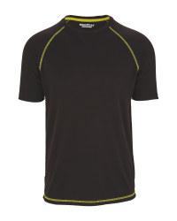 Men's Workwear Thermal T-Shirt - Black
