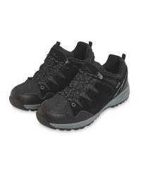 Crane Black Men's Trekking Shoes