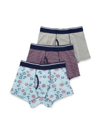 Men's Trunks - Anchor, Stripe & Grey
