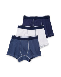 Men's Trunks - Navy, Grey and White