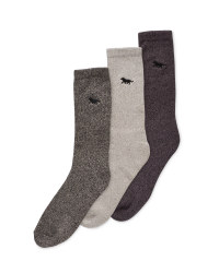 Men's Wolf Chunky Socks 3 Pack