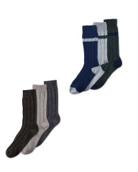 Men's Wool Blend Socks 3-Pack