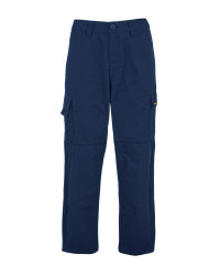 Men's Navy 31 Inch Work Trousers