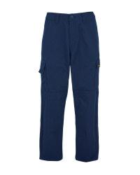 Men's Navy 31 Inch Work Trousers