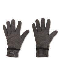 Men's Workwear Knitted Plain Gloves - Dark Grey