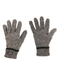 Men's Workwear Knitted Plain Gloves - Grey