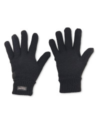 Men's Workwear Knitted Twist Gloves - Black