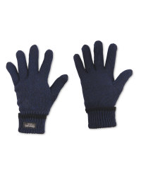 Men's Workwear Knitted Twist Gloves - Navy