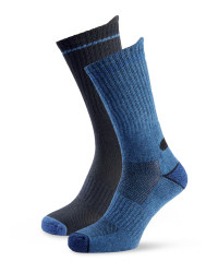 Men's Workwear Socks - Black / Blue