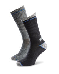 Men's Workwear Socks - Black / Grey