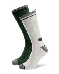 Men's Workwear Socks - Green / White