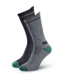 Men's Workwear Socks - Grey/Black Twist