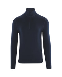 Men's Merino Wool Zip Neck Top