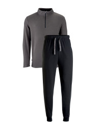 Men's Zip Neck Fleece Loungewear