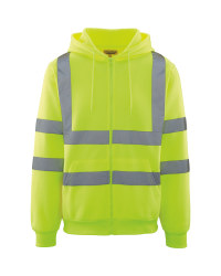 Men's Zip Through Hi-Vis Hoody