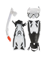 Snorkel & Diving Set L-XL - White