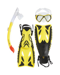 Snorkel & Diving Set L-XL - Yellow