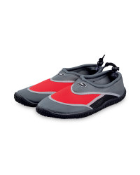 Men's Graphite and Red Water Shoes