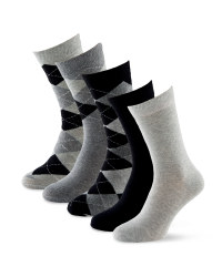 Mens' Argyle Socks 5 - Pack