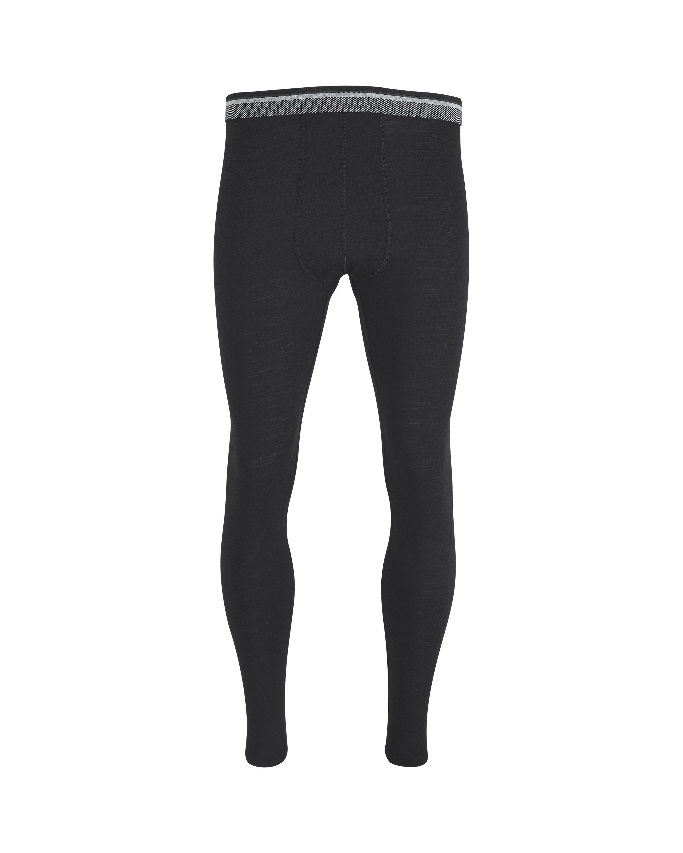 Men's Black Merino Base Trousers