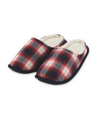 Men's Red Memory Foam Slippers