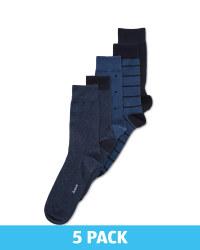 Men's Blue Socks 5 Pack