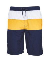 Avenue Men's Navy & Yellow Shorts