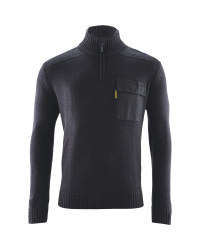Mens 1/4 Zip  Workwear Pullover - Black