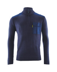 Mens 1/4 Zip  Workwear Pullover - Navy