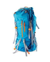 Men's 70L Trekking Backpack - Blue / Orange