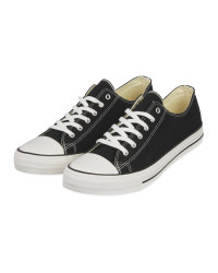 Mens Black Canvas Trainers