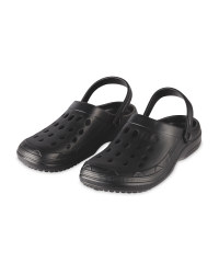 Men's Black Clogs