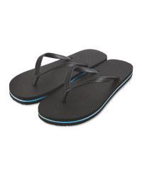 Avenue Men's Black Flip Flops