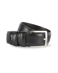 Mens Black Smooth Leather Belt