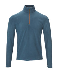 Crane Men's Blue Ski Fleece Shirt