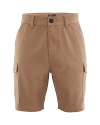 Avenue Mens Cargo Shorts  - Beige