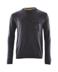 Mens Crew Neck Workwear Pullover - Charcoal