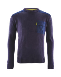 Mens Crew Neck Workwear Pullover - Navy