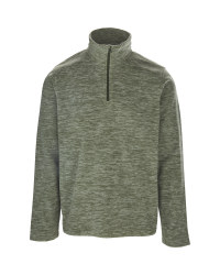 Men's Green 1/4 Zip-Neck Fleece