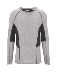 Men's Grey Base Layer Top