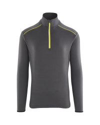 Crane Men's Grey Zip Neck Ski Top